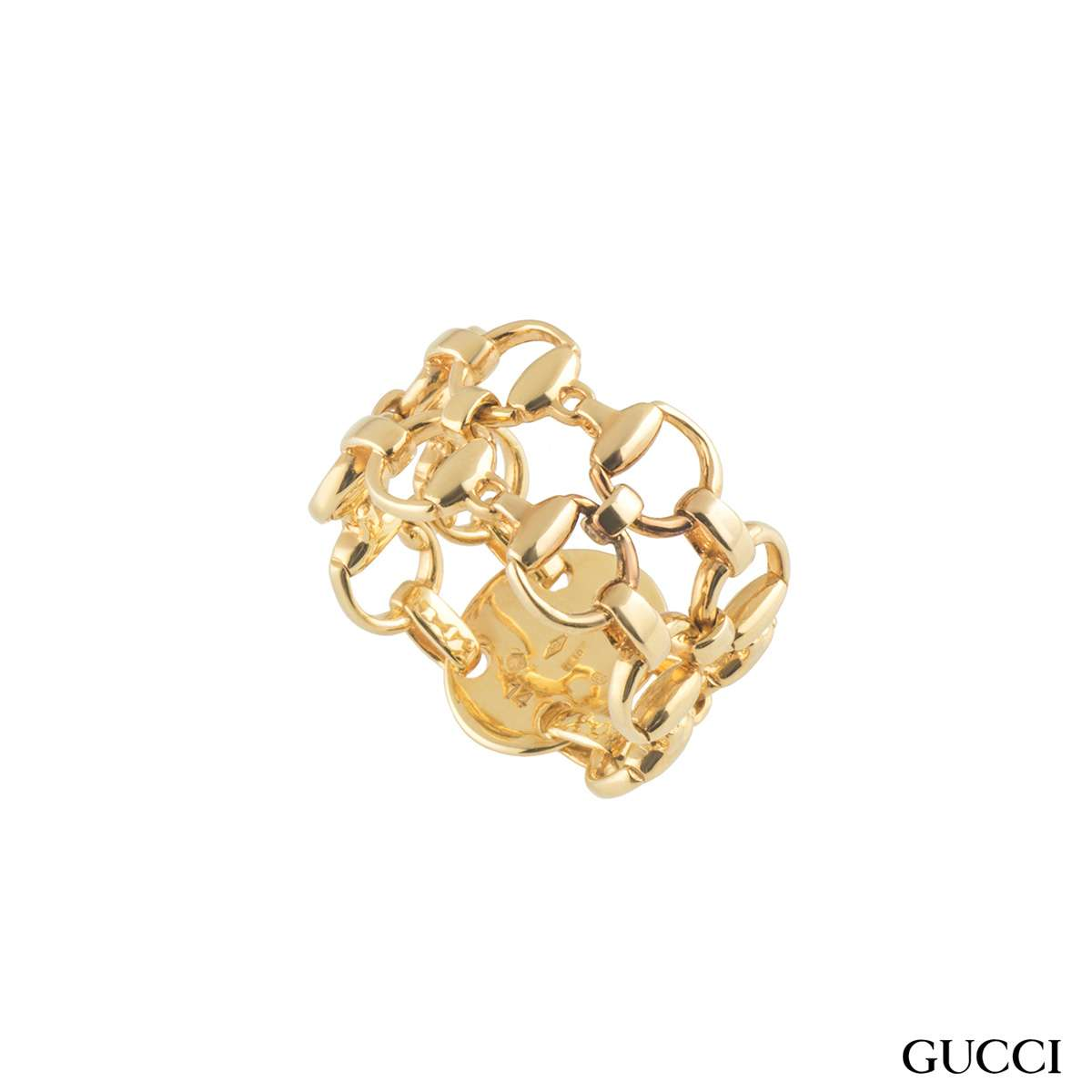 Gucci Yellow Gold Horsebit Ring